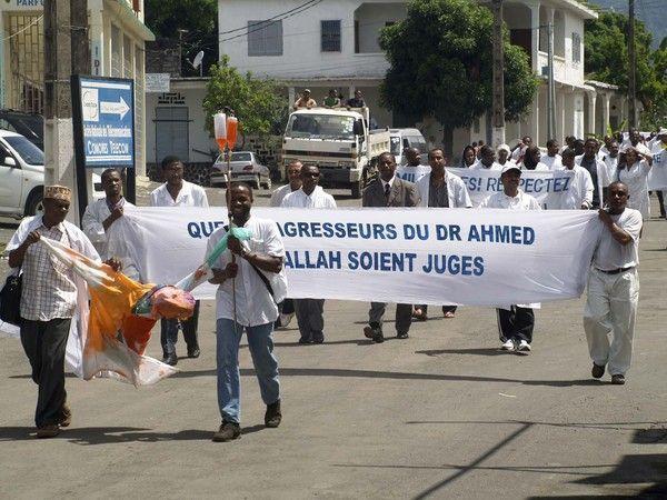 Anjouan - Manifestation du corps médical